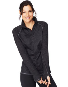 Hanes Sport™ Women's Performance Fleece Quarter Zip Sweatshirt O9325