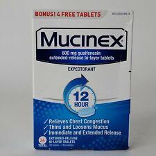 Mucinex | 600 mg Guaifenesin Expectorant Maximum Strength 24 Tablets Exp 7/2023