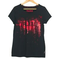 True Blood Splatter Graphic Womens Top T-Shirt Size Large Black