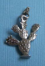 sterling charm Vintage cactus