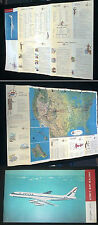 1959 COLOR UNITED AIRLINES MAP ATLAS MARY MAINLINER UNITED STATES OAHU HAWAII