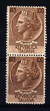 "ITALIA REP. - 1955 - Serie ""Italia Turrita""  - ""Siracusana"" - Filigrana Stella"