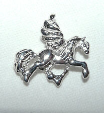 Pegasus Pendant Guardian Necklace Sterling Silver Flying Horse EquineJewelry
