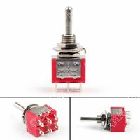Mini 6mm MTS-203 Toggle Interrupteur 6 Pin 3 Position ON/ON 5A/125VAC 2A/250VAC