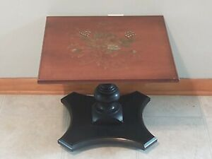 Hitchcock Heirloom Stenciled, Pedestal Lamp End Table