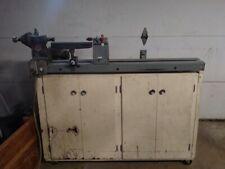 Wood Lathe (Used) Including Cabinet, Motor and Lathe Turning Tools