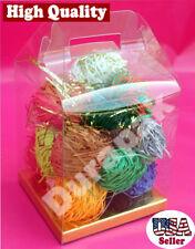 "24 PCS 4x3x2-1/2"" Party Wedding Favor Gable Handle Clear PVC Box w/ Golden Card"