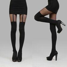 Women Socks Black Fake Suspenders Garter Belt Tights Pantyhose Stockings