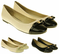 Womens Ladies Keddo Genuine Leather Slip On Ballerina Shoes Size 4 5 6 7 8