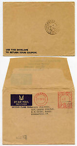 GB to SINGAPORE FORCES NAVAL PRINTED RATE AIRMAIL METER REPLY ENV + RAPO PMK