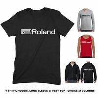 Roland T Shirt - Logo Analogue Synthesizer Synth Hoodie Vest Top