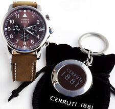 Cerruti 1881 Herren Uhr Chrono Chronograph braun NEU CRA081SN12BR UVP* 249,00€