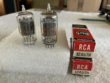 2 Matched RCA 12AU7A Clear Top Vacuum Tubes With Boxes