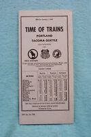 Time of Trains - Portland - Tacoma - Seattle, 12/26/68