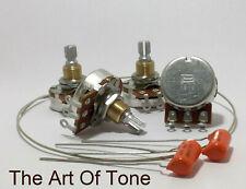 Bourns 500K SHORT Shaft Audio Pots + .022 Orange Drops - Low Friction Series- 4X