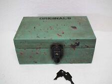 Box Utensilienbox Schatulle Kästchen  Kiste - grün - Shabby - mit Schloss