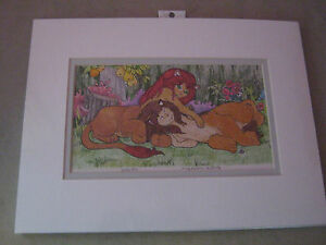Playmates!  furry art by Mary Hanson-Roberts (small, reseller, colored pencils)