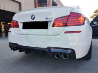 diffuser for bmw F10 F11 rear bumper twin exhaust diffuzer 5 tech sport Double