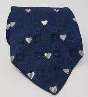 Cravatta Moschino 100% pura seta tie silk original made in italy handmade smile