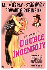 DOUBLE INDEMNITY Movie POSTER 27x40 Fred MacMurray Barbara Stanwyck Edward G.
