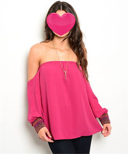 Burgandy Off the Shoulder Top Size XSmall