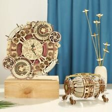 DIY Wooden Zodiac Wall Clock & Time Engine Calendar 3D Puzzle Model Building Kit