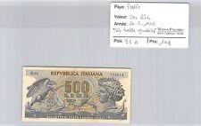 BILLET ITALIE - 500 LIRES - 20.6.1966 - TRÈS BELLE QUALITÉ !!!