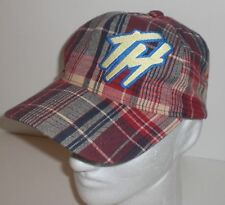 """The Hundreds Hat Plaid Baseball Cap Embroidered """"TH"""" Logo Mens Red Rare"""