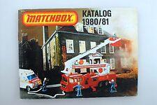 ORIGINAL KATALOG VON MATCHBOX  - DEUTSCHE AUSGABE VON 1980/81 -*****