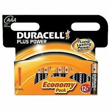 Duracell MN2400 Lr3 Plus Power AAA Batteries (Pack of 12)