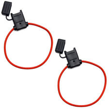 ATC/ATO Inline Red 12 Gauge Wire DC Power Supply Fuse Holder Pack of 2