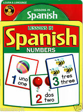 LESSONS IN SPANISH Educational Picture Book and Audio CD of NUMBERS Ages 5+