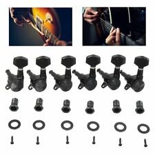 6L Black Guitar String Tuning Pegs Locking Tuners Keys Machine Heads Strat Tele