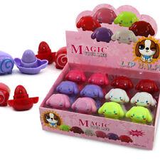 24 x Lip Balm Set Cute Shaped Lip Care Lipstick Display Box UK