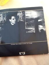 U2 donde las calles no tienen nombre 7 in (approx. 17.78 cm) SINGLE VINILO