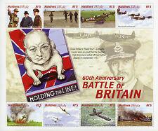 Maldives 2000 MNH WWII Battle Britain 60th 8v M/S II Churchill RAF Planes Stamps