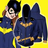 Batgirl Hoodies 3D Print Sweatshirts Unisex Hooded Zipper Jacket Casual Coat Top