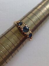 Fine Attractive Edwardian 18ct Gold Cornflower Blue Sapphire & Diamond Ring
