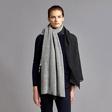 """OYUNA """"DIA"""" 100% CASHMERE SHAWL. CHARCOAL/SOFT GREY. BRAND NEW WITH TAGS. £350"""