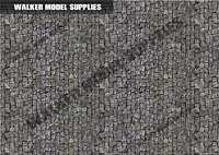 1:18 scale (3xA4) Garage Cobble road - Peel and Apply decal /model car, Design 3