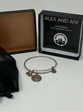 Alex And Ani Claddagh Silver Bangle Bracelet Love Friendship Loyalty New In Box