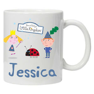 NEW childrens Personalised Ben And Holly mug cup tea coffee 6 oz