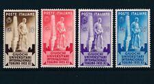 1933 ITALIA REGNO GIOCHI UNIVERSITARI TORINO SERIE 4 V MNH** - RE28-4