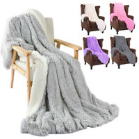 Luxury Warm Throw Blanket Bed Sofa Fluffy Large Cozy Shaggy Warm Sheepskin NEW