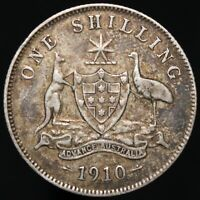 1910 | Australia Edward VII One Shilling | Silver | Coins | KM Coins