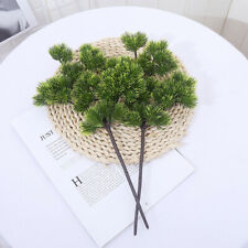 Pine Tree Branches Artificial Plastic Pinaster Cypress Christmas Decorations