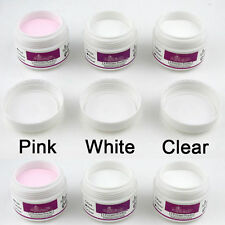 Fashion Women Acrylic Powder for Nail Art False Tips Tools Set White Clear Pink