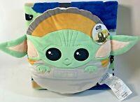 Star Wars Mandalorian The Child Pillow & Travel Blanket Set Soft & Cozy New