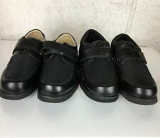Two Pairs Apis Mt Emey 718 728 Black Lycra Orthotic Bunion Sz 8.5 Shoes Diabetic