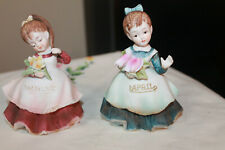 Geo Z Lefton August& April Month Birthday Flower Girl Figurine Japan Kw4200